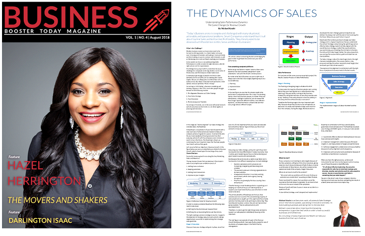 ARTICLE IN BUSINESS BOOSTER TODAY AUGUST 2018